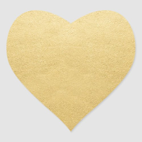 Blank Template Gold Shine Add Your Text or Logo Heart Sticker
