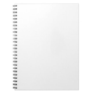 Blank Template Notepad Spiral Note Book