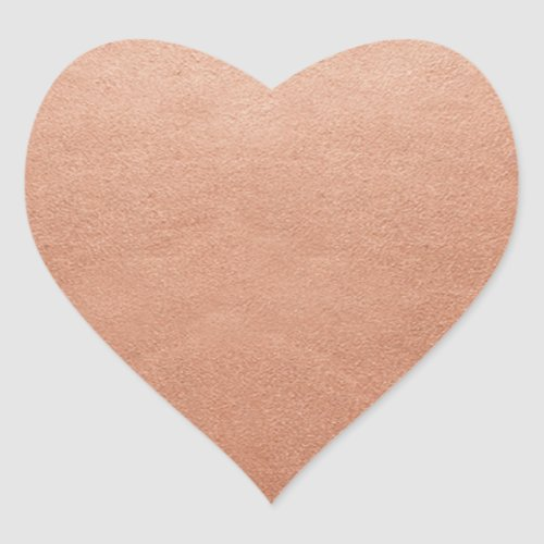 Blank Template Rust Copper Shine Add Text or Logo Heart Sticker