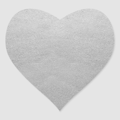 Blank Template Silver Foil Add Your Text or Logo Heart Sticker