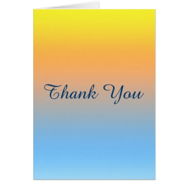 Beach Themed Blank Thank you Sunset Beach Colored Card