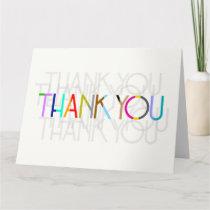 Blank Unisex Thank You Typography Card