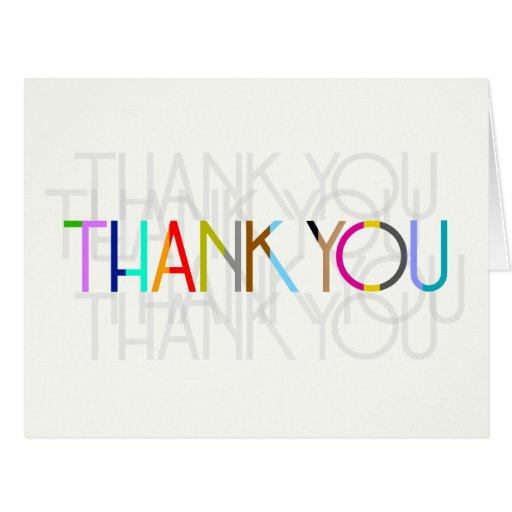 Blank Unisex Thank You Typography Card Zazzle