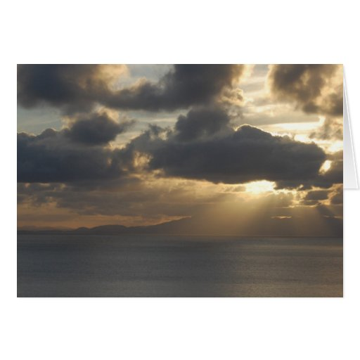 Blank - Vibrant Sunset Greeting Card