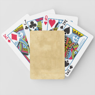 Blank Vintage Aged Paper Bicycle Playing Cards