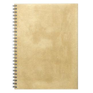 Blank Vintage Aged Paper Spiral Notebook