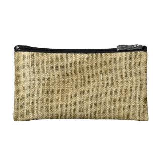 Blank Vintage Beige Burlap Inspired Makeup Bag