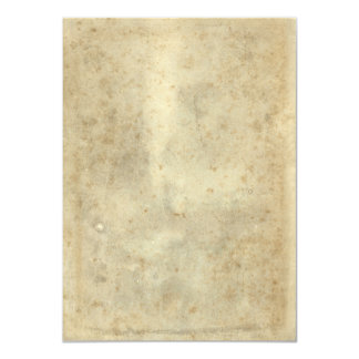 Blank Vintage Dark Beige Aged Stained Paper Card
