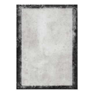Blank Vintage Dark Gray Aged Stained Paper Card