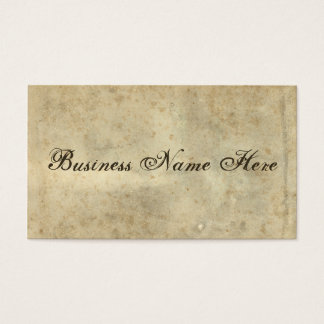 Blank Vintage Distressed Stained Parchment Business Card