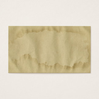 Blank Vintage Grunge Aged Stained Old Paper Business Card