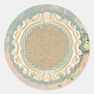 Blank Vintage Paris - Customizable Packaging Classic Round Sticker