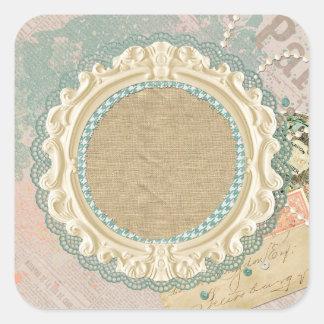 Blank Vintage Paris - Customizable Packaging Square Sticker