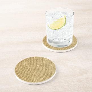Blank Vintage Wicker Woven Inspired Beverage Coasters