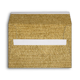Blank Vintage Wicker Woven Inspired Envelope