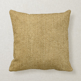 Blank Vintage Wicker Woven Inspired Throw Pillow