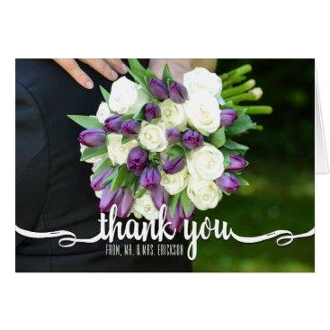 ericksondesigns Blank Wedding Photo Thank You Note Card