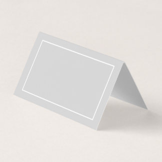 Blank White and Grey Wedding Place Card