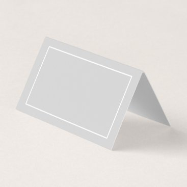 manadesignco Blank White and Grey Wedding Place Card