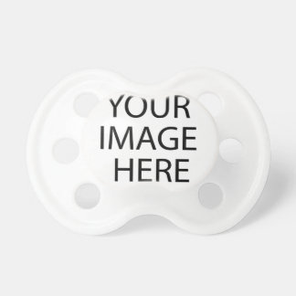 Blank white pacifier