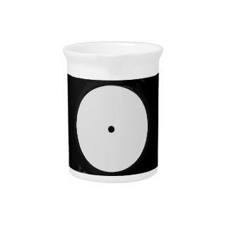 Blank White Record Label Drink Pitcher