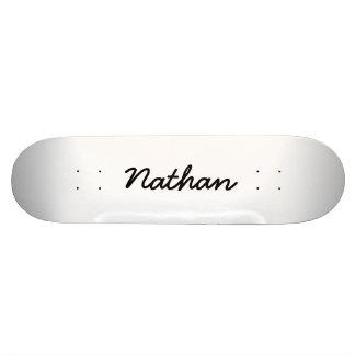 Blank white skateboard deck