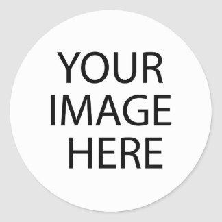 Blank White Template Classic Round Sticker