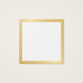 Blank with Faux Gold Foil Border Square Business Card