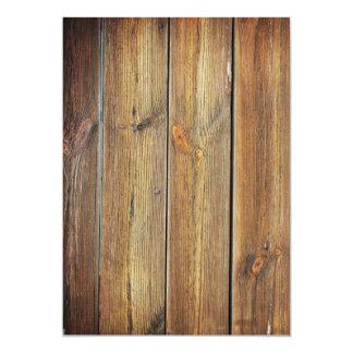 Blank Wood Invitation