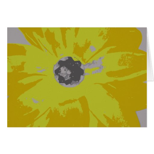 Blank Yellow Lily Notecard Cards