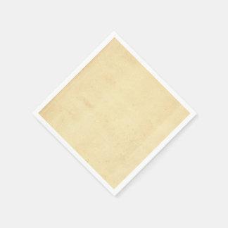 Blank Yellowed Antique Paper Napkin