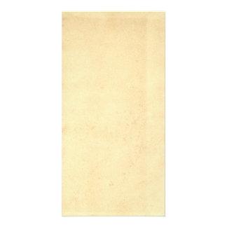 Blank Yellowed Antique Paper Custom Photo Card