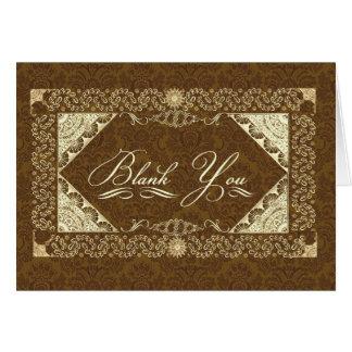 Blank You Ornate Euphemism Card