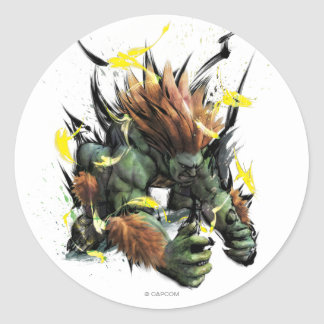 Blanka Charge Classic Round Sticker
