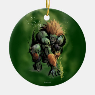Blanka Crouch Double-Sided Ceramic Round Christmas Ornament