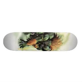 Blanka se agacha tablas de skate