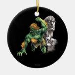 Blanka Vs. Dhalsim Ceramic Ornament