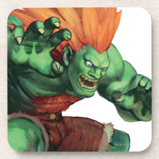 Blanka With Hands Raised Beverage Coaster