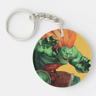 Blanka With Hands Raised Double-Sided Round Acrylic Keychain