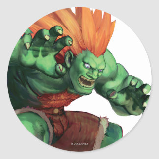 Blanka With Hands Raised Stickers