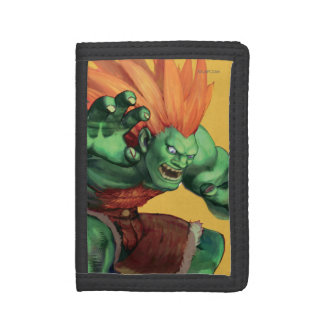 Blanka With Hands Raised Trifold Wallets