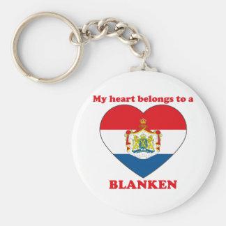 Blanken Basic Round Button Keychain
