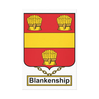 Blankenship Family Crest Canvas Print
