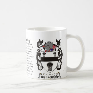 Blankenship, the origin and meaning on a mug