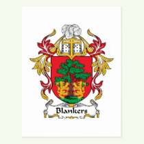 Blankers Family Crest Postcard