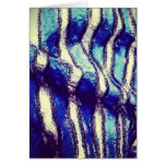 Blanket Abstract Warm and Cozy Stationery Note Card