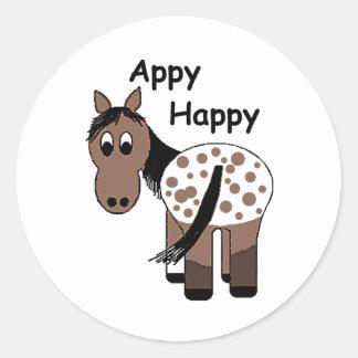 Blanket Appaloosa - Appy Happy Classic Round Sticker