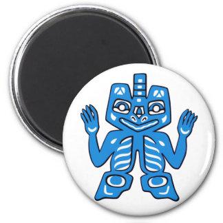 Blanket design of the Haida Indians 2 Inch Round Magnet