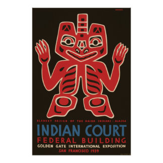 Blanket design of the Haida Indians Poster