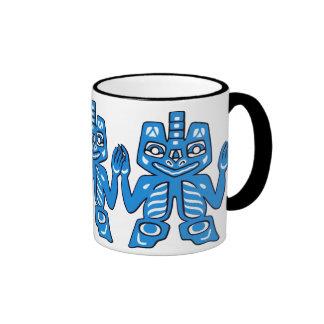 Blanket design of the Haida Indians Ringer Mug